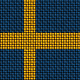 Woven texture of the flag of Sweden Royalty Free Stock Photos