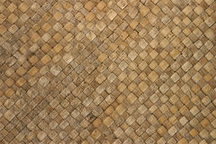 Woven Thatch Background Pattern. A woven thatch mat to use for a background pattern or texture royalty free stock image