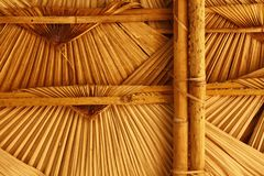 woven thatched roofing stock photos