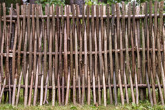 Woven of thin rods in the village Royalty Free Stock Image