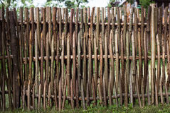 Woven of thin rods in the village Royalty Free Stock Photo