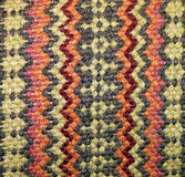 Woven Tribal Pattern Tapestry. In Earth Tone Colors Royalty Free Stock Image