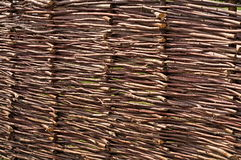 Woven twigs fence Royalty Free Stock Photography