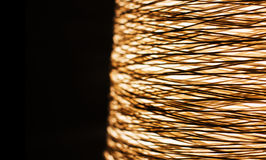 Woven twine to pattern chandelier. Woven twine to a basket pattern chandelier Royalty Free Stock Photos