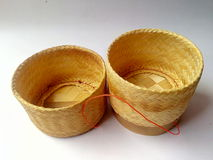 Woven. Weave Bamboo crafts Rice Pot Country OTOP farmers life Culture Sufficiency wisdom industry beautiful Marketing royalty free stock photography