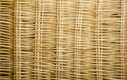 Woven Wicker. Wicker is woven in attractive design Royalty Free Stock Photo