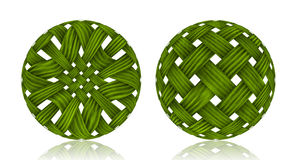 Woven Wicker ball Royalty Free Stock Images