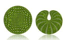 Woven Wicker ball. S shape on white background Royalty Free Stock Images