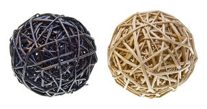 Woven Wicker Balls Stock Photography