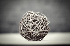 Woven wicker or bamboo balls Stock Photography