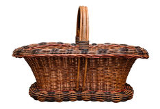 Woven Wicker Basket Stock Photography