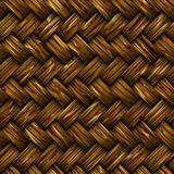 Woven wicker basket stock illustration