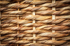 Woven wicker basket background. Close up woven wicker picnic basket texture Royalty Free Stock Photography