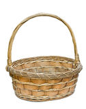 Woven wicker basket. Royalty Free Stock Photo