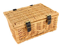 Woven Wicker Basket Stock Image