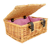 Woven Wicker Basket Royalty Free Stock Photo