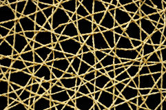 Woven Wicker Net with black background Royalty Free Stock Photo