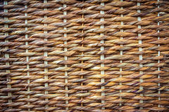 Woven wicker texture. Close up wicker basket background Stock Photography