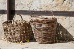 Woven wicker. Royalty Free Stock Image