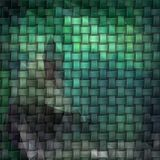 Woven wicker weave pattern texture background - dark green color. Woven rattan wicker weave pattern texture background - dark green color Stock Images