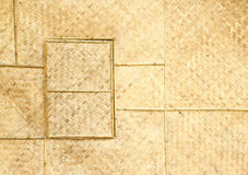Woven window panel and wall. Woven window panel and woven wall Stock Photos