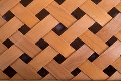 Woven wood background royalty free stock photography