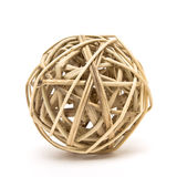 Woven wood ball Royalty Free Stock Image