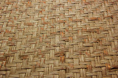 Woven wood bamboo wall Stock Image