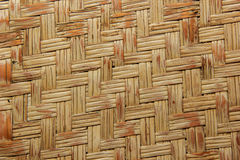 Woven wood bamboo wall Royalty Free Stock Image
