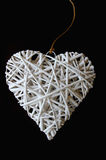 Woven wood in heart shape Stock Photography