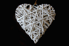 Woven wood in heart shape Royalty Free Stock Photo