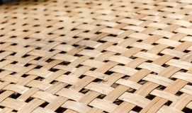Woven wood pattern background: soft focus Royalty Free Stock Image