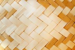 Woven wood pattern Stock Photo