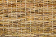 Woven wood wicker background Royalty Free Stock Image