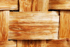 Woven wooden background Royalty Free Stock Photos