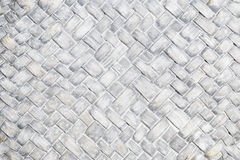 Woven, wooden background. Dyed woven wicker texture white Royalty Free Stock Photography