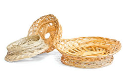 Woven wooden fruit or bread baskets Stock Photo