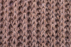 Woven Wool Background. Brown Natural Woven Wool Background closeup Stock Photo