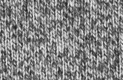 Woven Wool Texture. Black and white woven wool texture Royalty Free Stock Photos