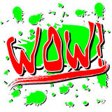 Wow έκρηξη Word Στοκ εικόνες με δικαίωμα ελεύθερης χρήσης