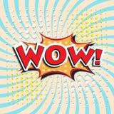 WOW! κωμική λέξη Στοκ Φωτογραφία