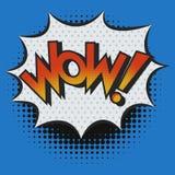 WOW! Ausruf im Knall Art Style vektor abbildung