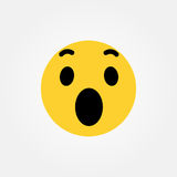 Wow awesome emoticon vector illustration Stock Photography