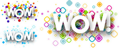 Wow colour backgrounds. Royalty Free Stock Photos