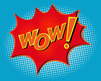 WOW Comic Speach Bubble,Pop art vector Background Royalty Free Stock Photos