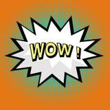 Wow! comic speech bubble Stock Photos