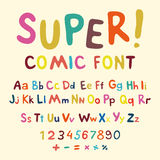 Wow. Creative high detail font for your design. The alphabet in the style of comics. Graphics pop - art on transparent background. Royalty Free Stock Photos