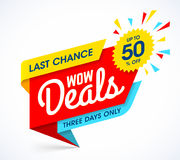 Free WOW Deals Sale Banner Template Stock Images - 96320764