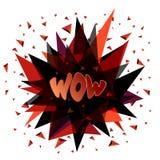 Wow, emotion, surprise, delight, joy. Vector illustration. Stock Photography