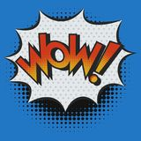 WOW! Exclamation in Pop Art Style Royalty Free Stock Images